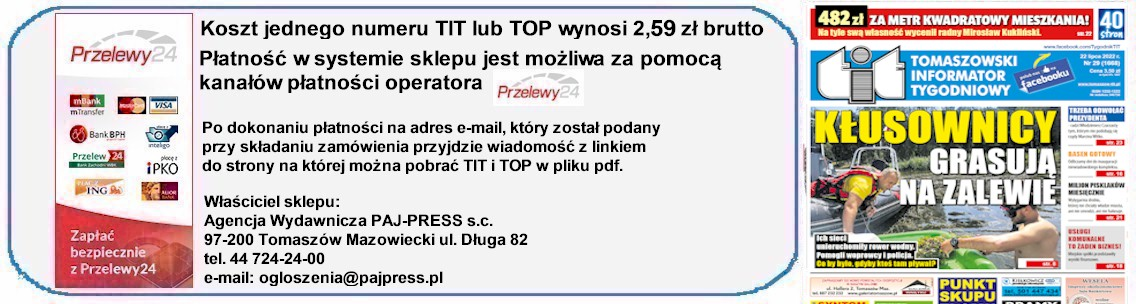 Doładowania Tomaszowski Informator Tygodniowy