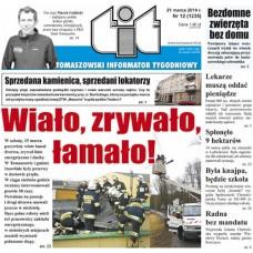 TIT - Tomaszowski Informator Tygodniowy nr 12 (1235) z 21 marca 2014r.