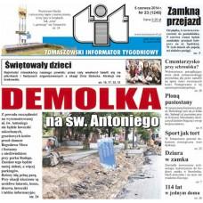 TIT - Tomaszowski Informator Tygodniowy nr 23 (1246) z 6 czerwca 2014r.