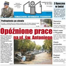 TIT - Tomaszowski Informator Tygodniowy nr 40 (1263) z 3 października 2014r.