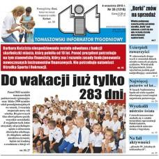TIT - Tomaszowski Informator Tygodniowy nr 35 (1310) z 4 września 2015r.