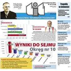 TIT - Tomaszowski Informator Tygodniowy nr 43 (1318) z 30 października 2015r.