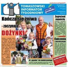 TIT - Tomaszowski Informator Tygodniowy nr 33 (1411) z 18 sierpnia 2017r.