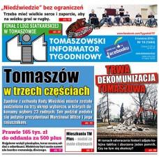 TIT - Tomaszowski Informator Tygodniowy nr 14 (1444) z 6 kwietnia 2018r.
