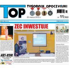 TOP - Tygodnik Opoczyński nr 11 (922) z 20 marca 2015 r.