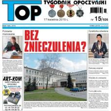 TOP - Tygodnik Opoczyński nr 15 (926) z 17 kwietnia 2015 r.