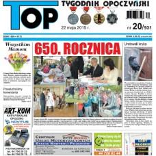 TOP - Tygodnik Opoczyński nr 20 (931) z 22 maja 2015 r.