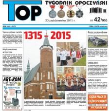 TOP - Tygodnik Opoczyński nr 42 (953) z 23 października 2015 r.