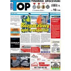 TOP - Tygodnik Opoczyński nr 16 (1186) z 17 kwietnia 2020 r.